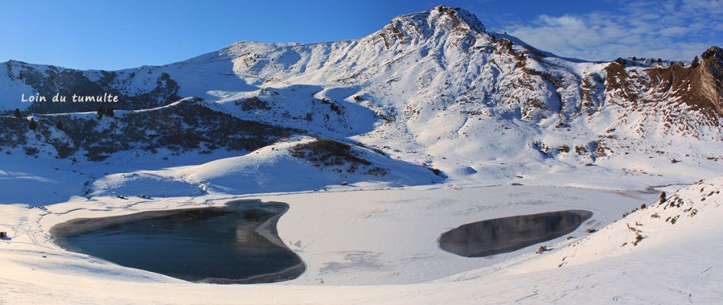 Loin du tumulte, lac de roy, praz de lys, hiver