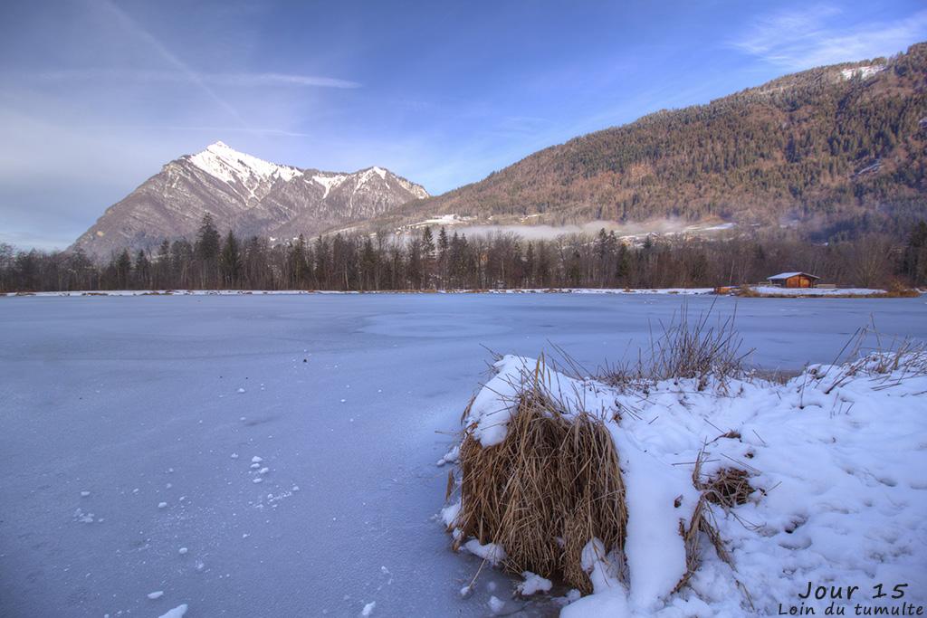Loin du tumulte, lac de verneys, taninges, giffre, hiver